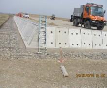 Ziduri de sprijin din beton si din pilotaj cu gabione
